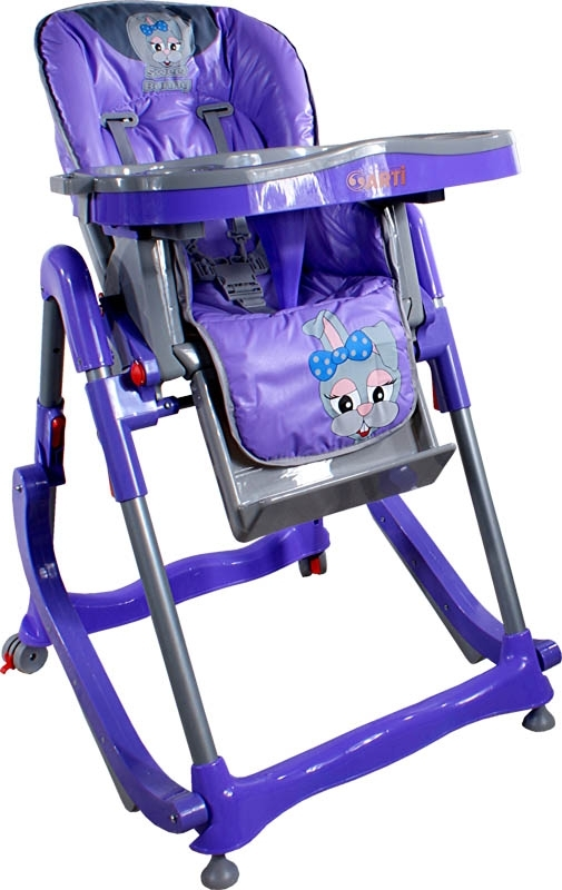 Jídelní židlička Modern Violet Skládací jídelní židlička s funkcí kolébky