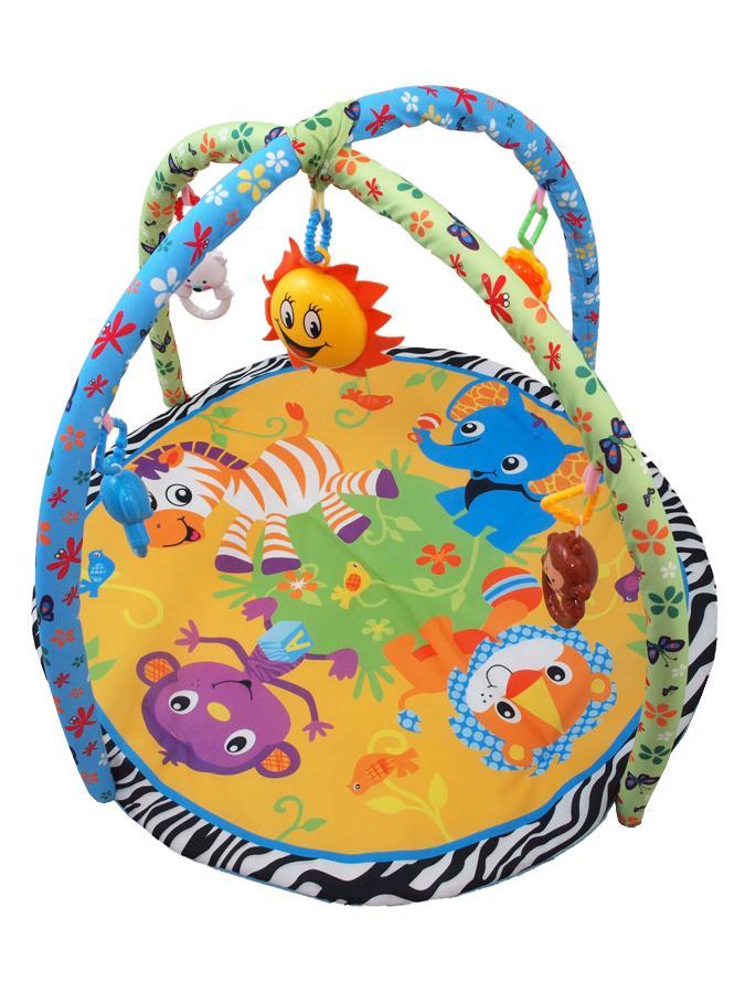 Hrací deka s melodiemi Baby Mix safari Hrací deka s hrazdičkou, hračkami a melodiemi