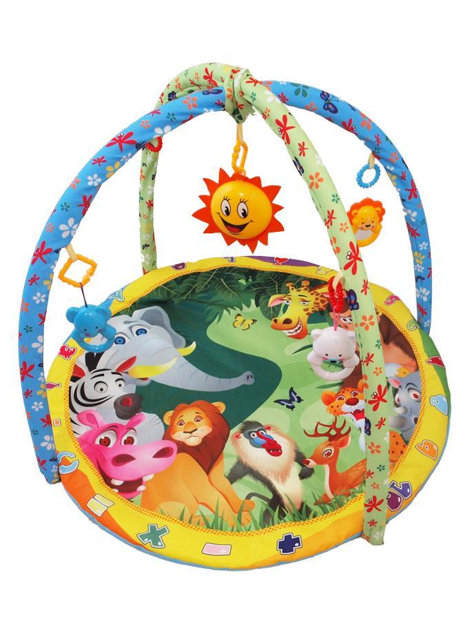 Hrací deka s melodiemi Baby Mix safari 2 Hrací deka s hrazdičkou, hračkami a melodiemi