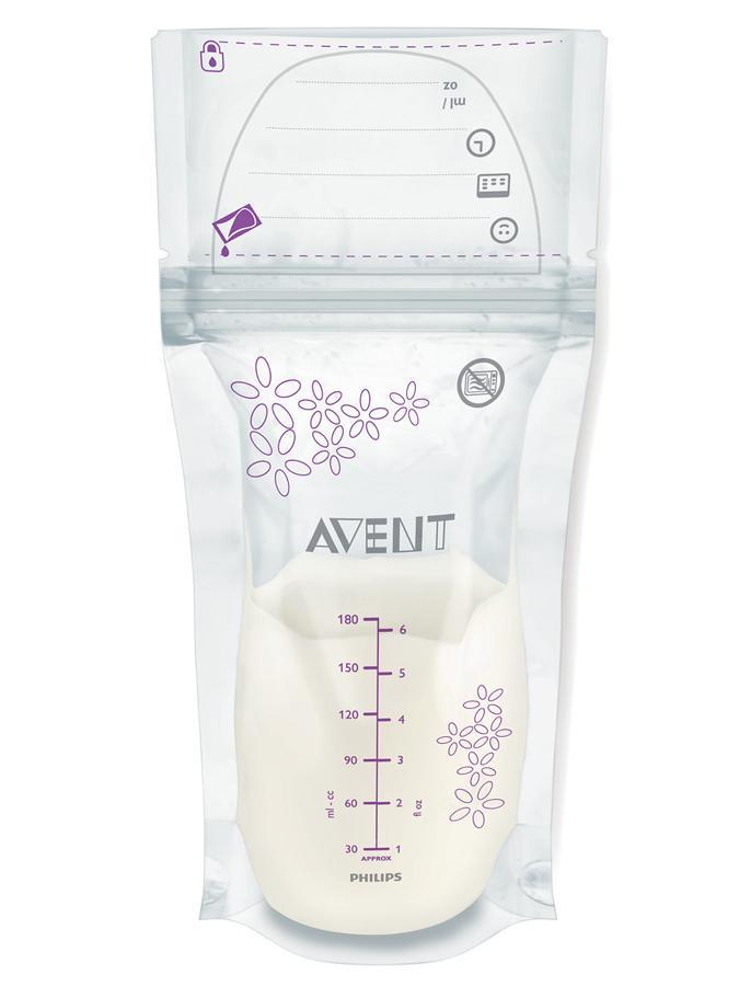 Sada sáčků na mléko Avent 180 ml - 25 kusů Sáčky na mateřské mléko 25 ks