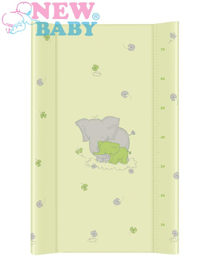 Přebalovací nástavec New Baby 80x50 cm Sloník green Měkká přebalovací podložka s profilovanými okraji