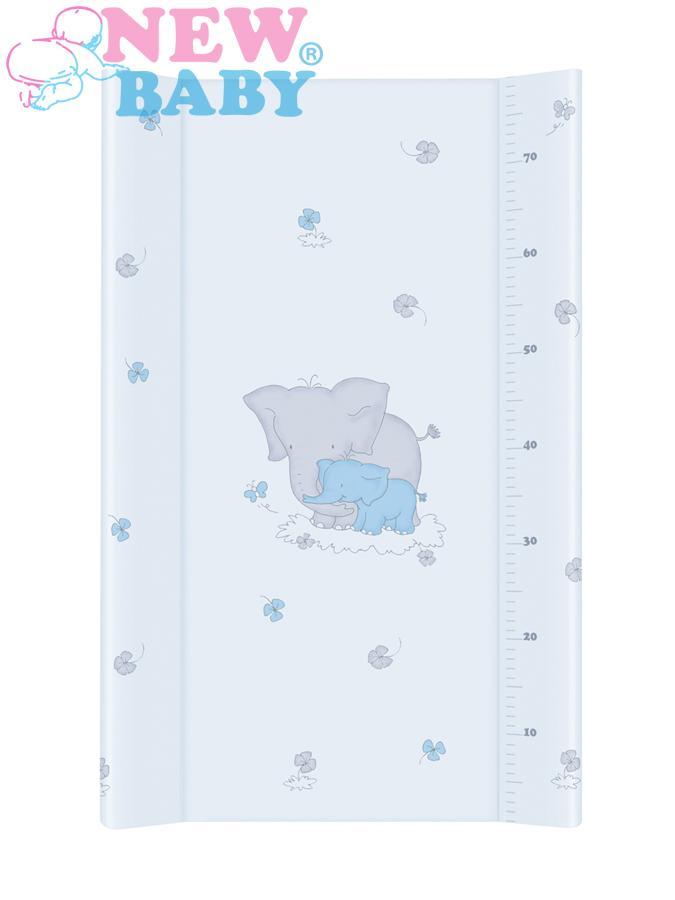 Přebalovací nástavec New Baby 80x50 cm Sloník blue Měkká přebalovací podložka s profilovanými okraji