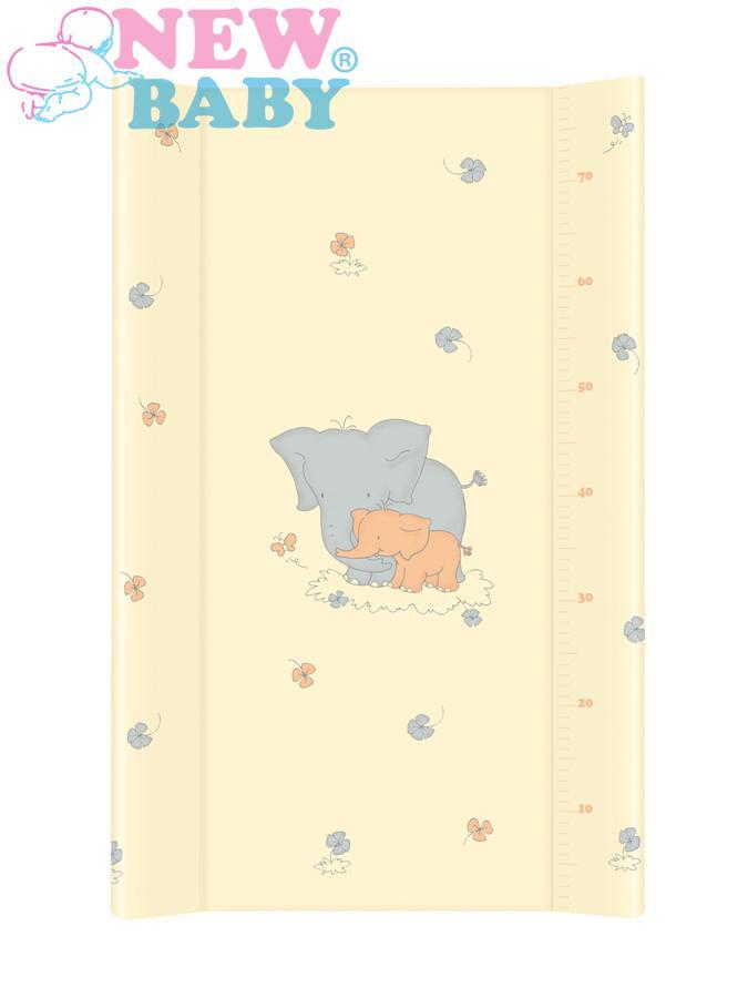 Přebalovací nástavec New Baby 80x50 cm Sloník gold Měkká přebalovací podložka s profilovanými okraji