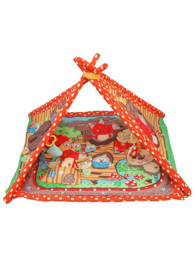 Hrací deka Baby Mix Liška 90x90 cm Hrací deka s hrazdičkou a hračkami