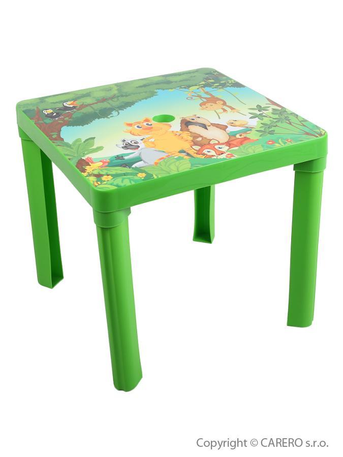 Dětský stolek plastový Forest green Plastový dětský stolek