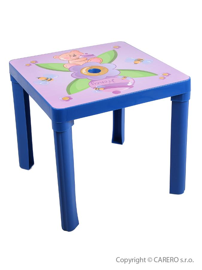 Dětský stolek plastový Méďa blue