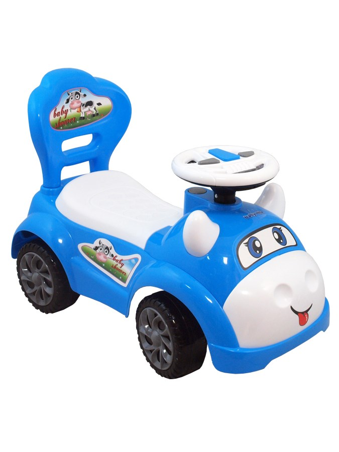 Odrážedlo Baby Mix kravička blue Odrážecí autíčko se zvuky
