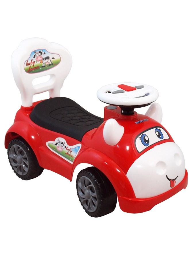 Odrážedlo Baby Mix kravička red Odrážecí autíčko se zvuky