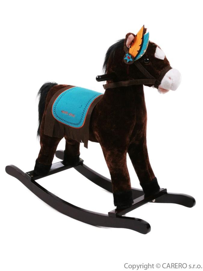 Houpací kůň Bayo Mohawk hnědý Plyšový houpací koník se zvuky a pohyby