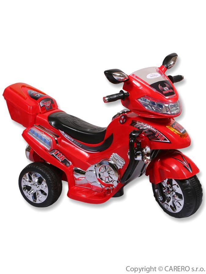 Elektrická motorka BAYO větší red Dětská elektrická motorka BAYO