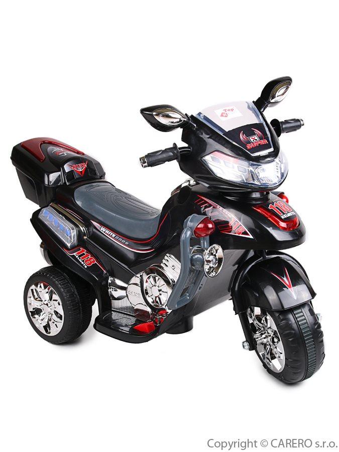 Elektrická motorka BAYO větší black Dětská elektrická motorka BAYO