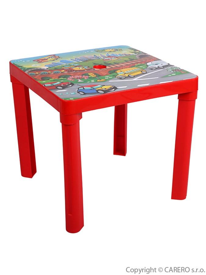 Dětský stolek plastový Auta red Plastový dětský stolek