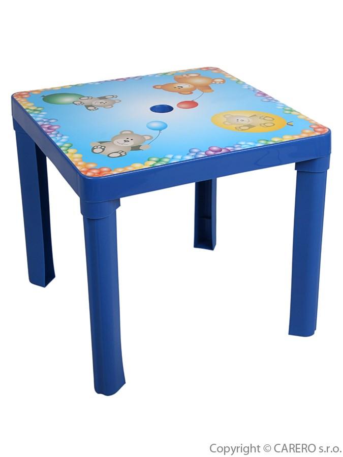 Dětský stolek plastový Medvídci blue Plastový dětský stolek