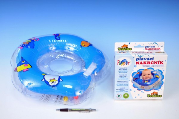 Plavací nákrčník Flipper modrý Plavací kruh pro nejmenší