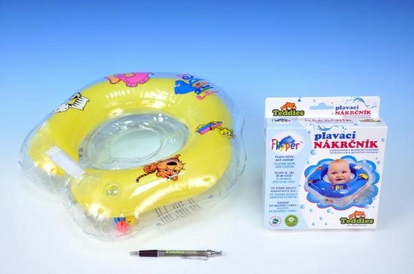 Plavací nákrčník Flipper žlutý Plavací kruh pro nejmenší