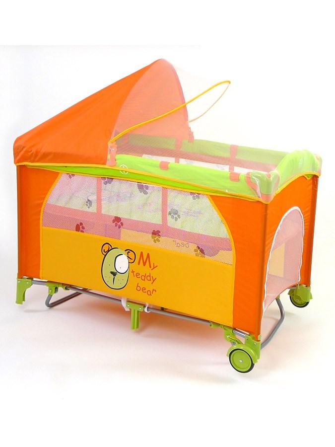 Cestovní postýlka Mirage Deluxe teddy Dětská postýlka skládací Milly Mally