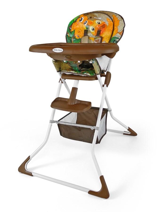 Jídelní židlička Milly Mally MINI jungle brown Skládací jídelní židlička Milly Mally