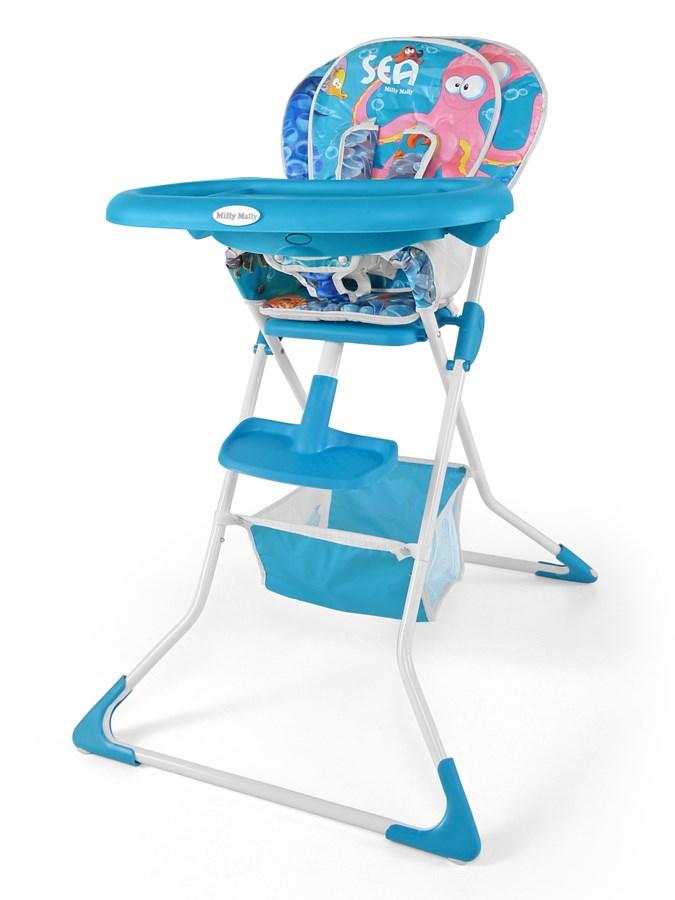 Jídelní židlička Milly Mally MINI sea blue Skládací jídelní židlička Milly Mally
