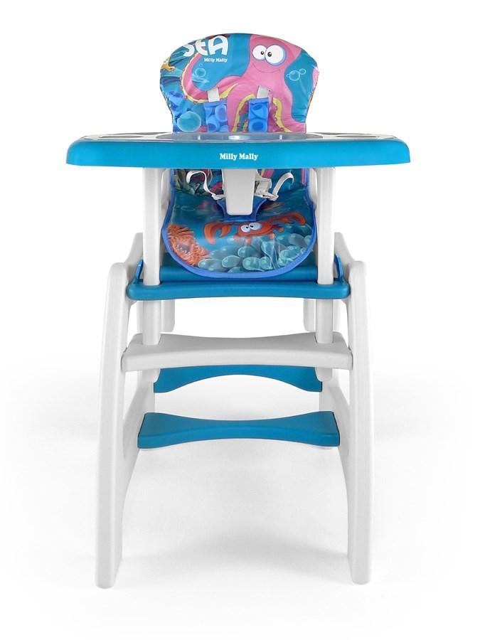 Jídelní židlička Milly Mally Max sea blue Dětská jídelní židlička rozkládací