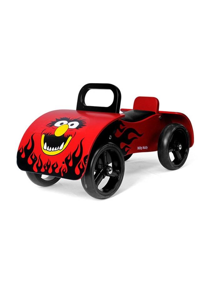 Odrážedlo dřevěné Milly Mally Junior red Odrážecí auto dřevěné pro děti