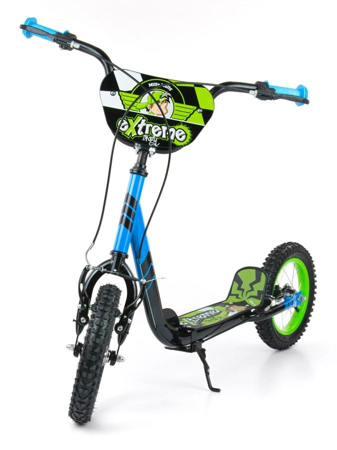 Koloběžka dětská Milly Mally Scooter Extrema blue/green