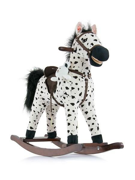 Houpací kůň Milly Mally Mustang bílo-černý