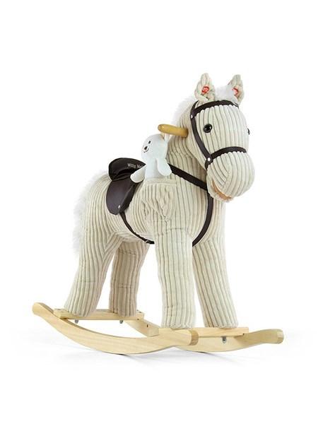 Houpací kůň Milly Mally Pony béžový Látkový houpací koník se zvuky a pohyby