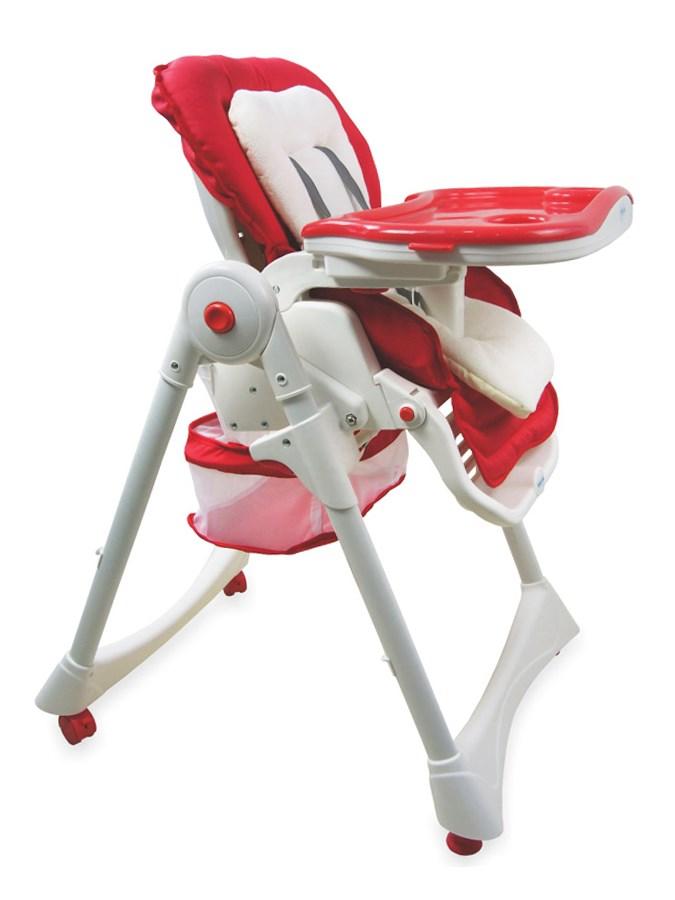Jídelní židlička Baby Mix červená Skládací jídelní židlička Baby Mix