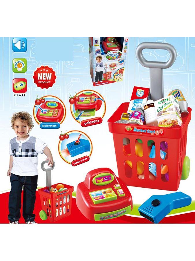 Dětský nákupní vozík Bayo 24ks