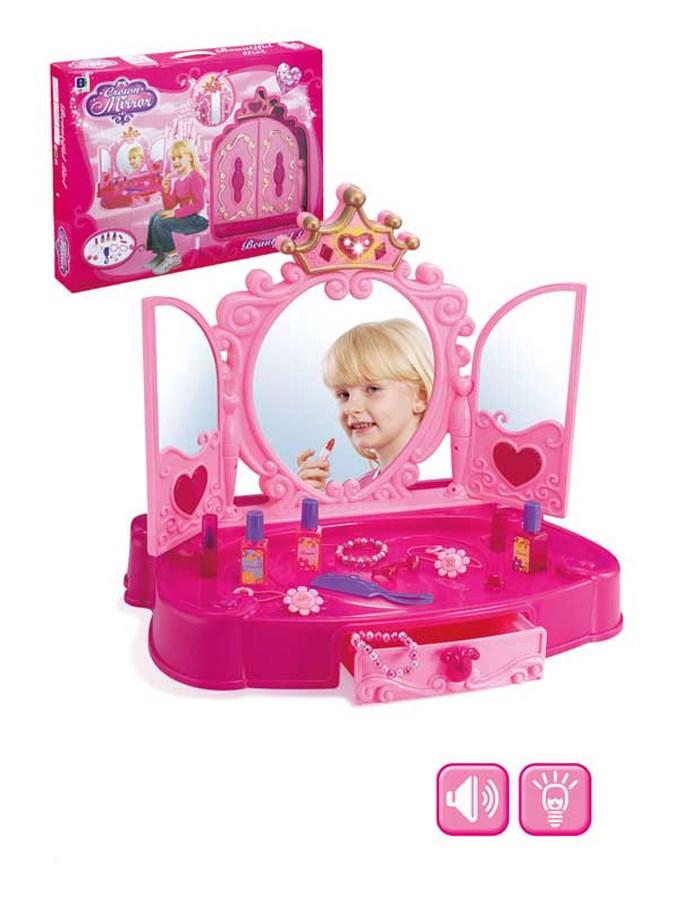 Dětský toaletní stolek Bayo +13ks doplňků Dětská plastová sada krásy