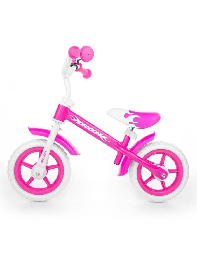 Odrážedlo kolo Milly Mally Dragon bez brzdy pink Dětské odrážedlo-kolo Milly Mally