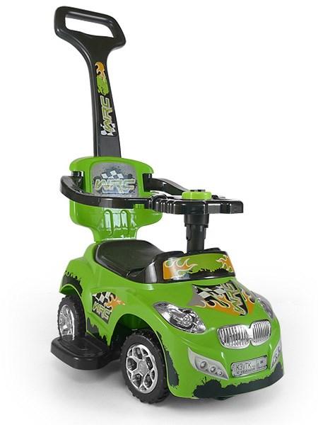 Odrážedlo 2v1 Milly Mally Happy green Odrážedlo a jezdítko s vodící tyčí