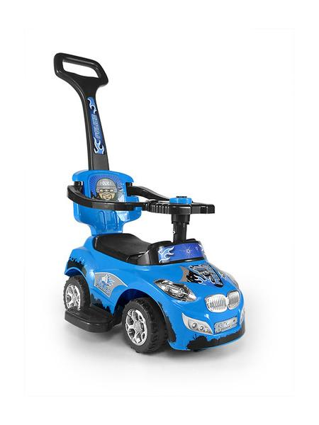 Odrážedlo 2v1 Milly Mally Happy blue Odrážedlo a jezdítko s vodící tyčí