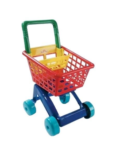 Dětský nákupní košík tyrkys Dětský plastový vozík Dohany