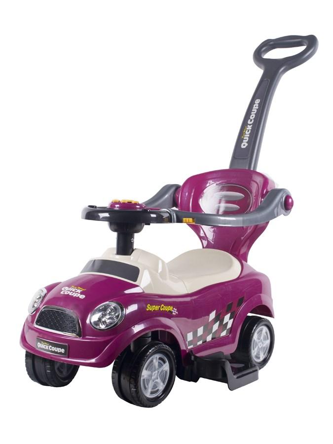 Odrážedlo jezdítko Bayo 3v1 violet Odrážedlo s vodící tyčí