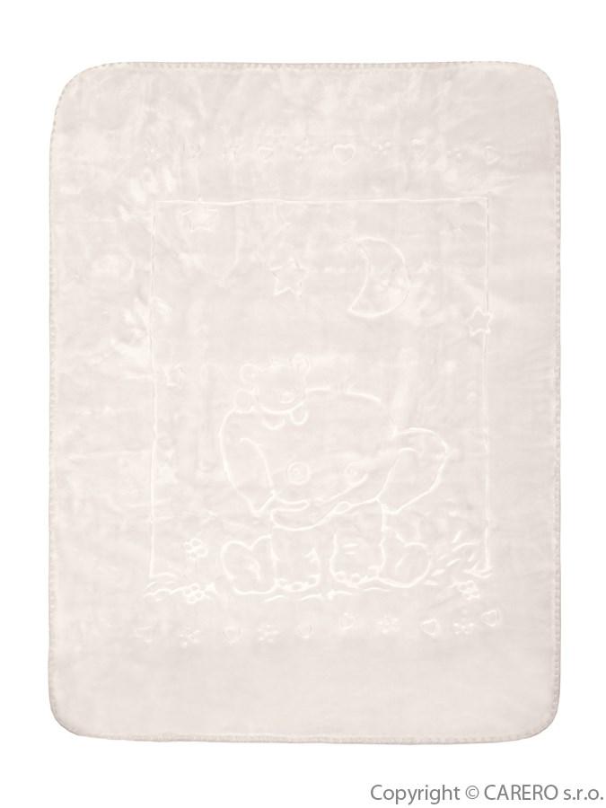 Dětská deka španělská 80x110 cm sloník béžová Dětská španělská deka