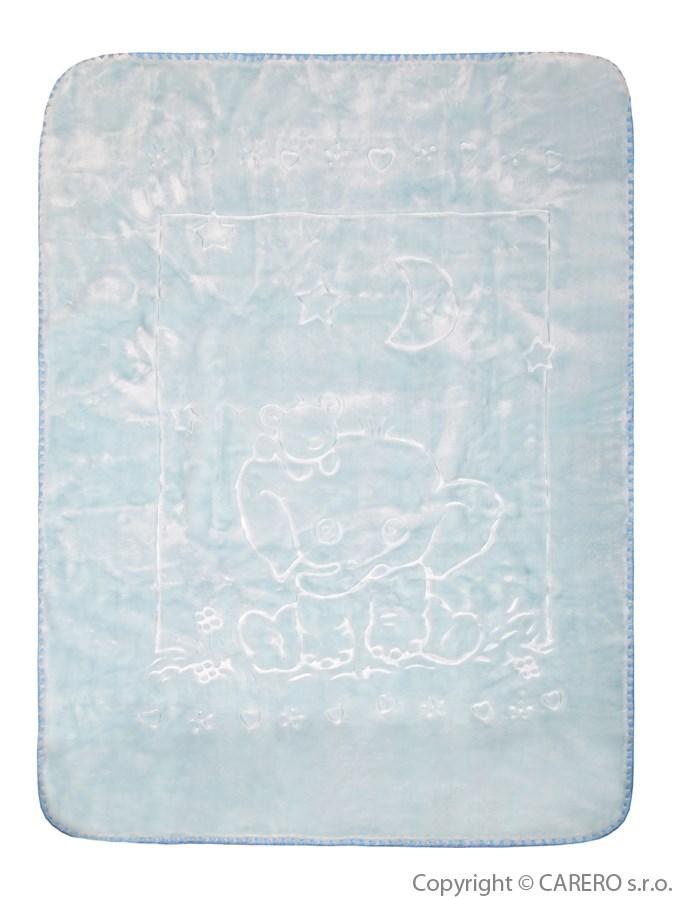 Dětská deka španělská sloník modrá Dětská španělská deka