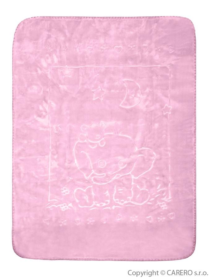 Dětská deka španělská sloník růžová Dětská španělská deka