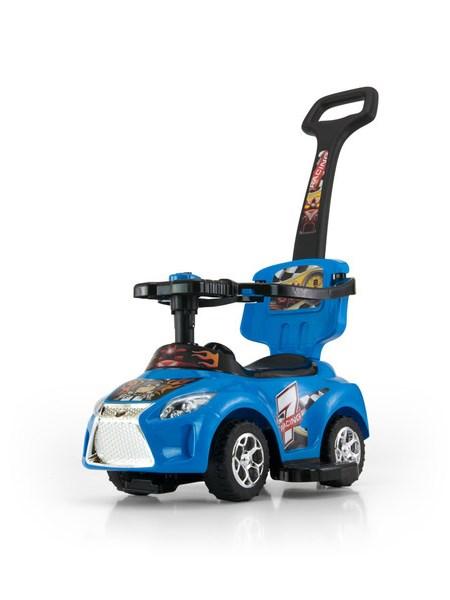 Odrážedlo 2v1 Milly Mally Kid blue Odrážedlo a jezdítko s vodící tyčí