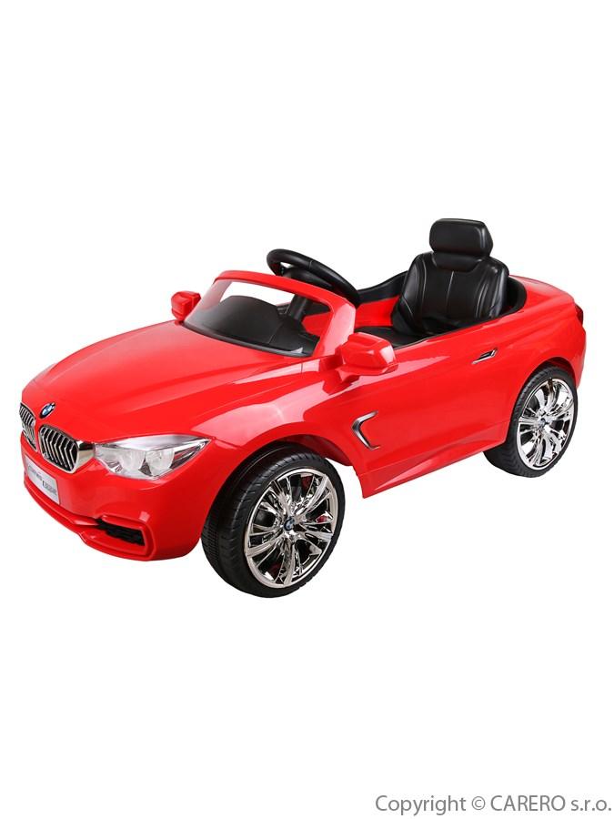 Elektrické auto BMW Bayo červené Elektrické autíčko pro 1 dítě s dálkovým ovládáním