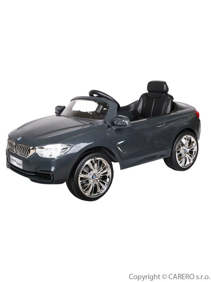 Elektrické auto BMW Bayo stříbrné Elektrické autíčko pro 1 dítě s dálkovým ovládáním