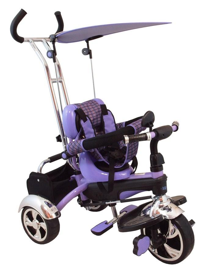 Tříkolka s vodící tyčí Baby Mix violet Tříkolka s vodící tyčí Baby Mix