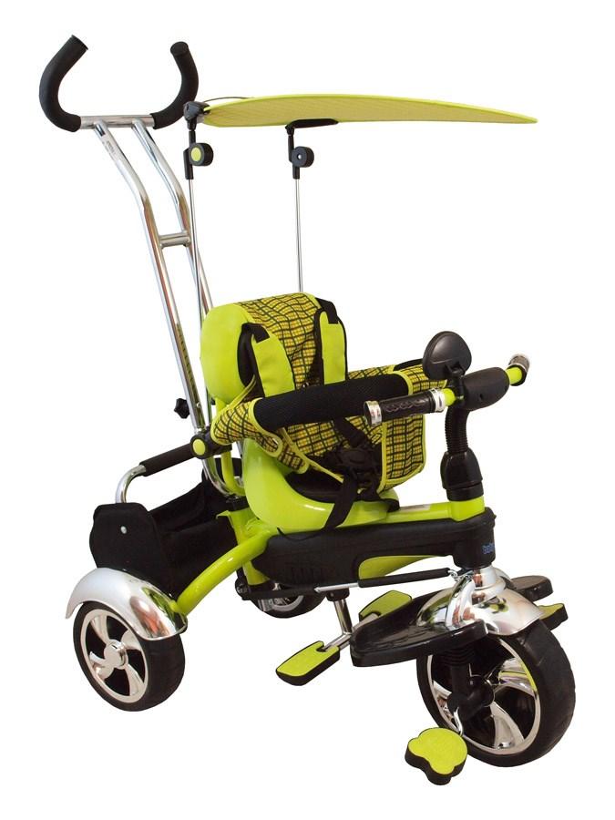 Tříkolka s vodící tyčí Baby Mix green Tříkolka s vodící tyčí Baby Mix