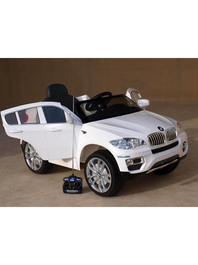 Elektrické auto Baby Mix BMW X6 bílé Elektrické autíčko pro 1 dítě s dálkovým ovládáním