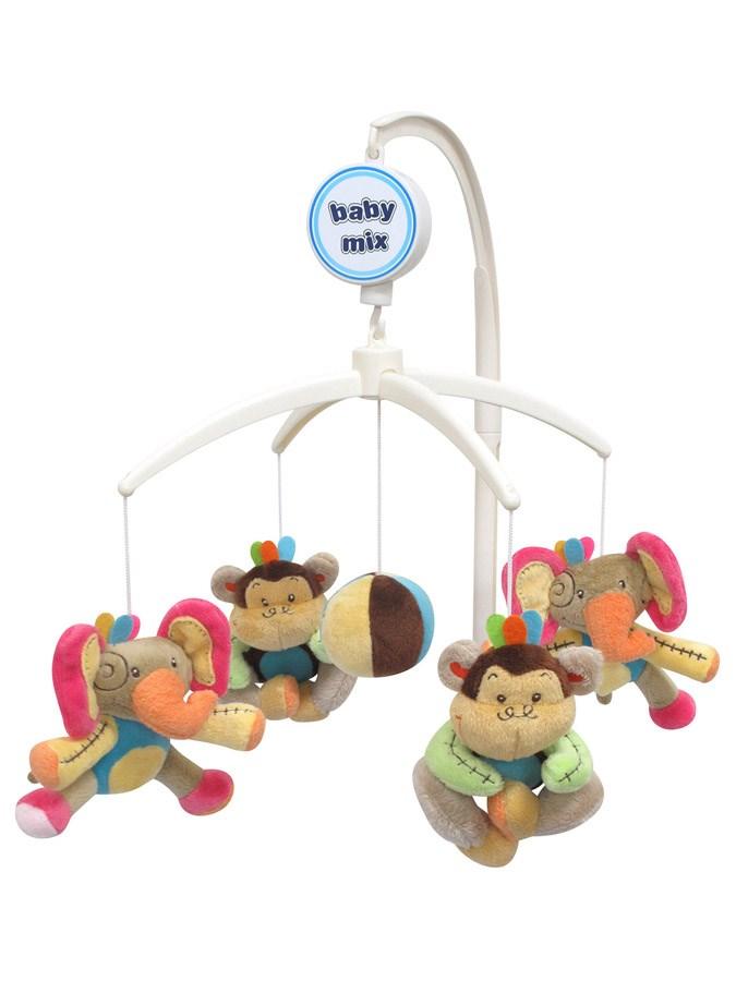 Kolotoč nad postýlku Sloni a opičky Kolotoč nad postýlku hrající