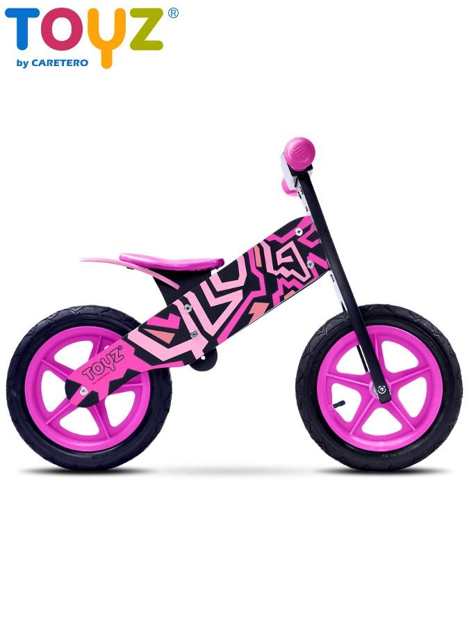 Odrážecí kolo dřevěné Toyz ZAP black/pink Dětské odrážedlo kolo Toyz