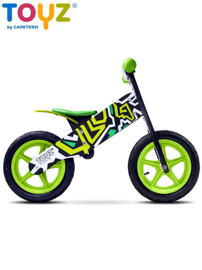 Odrážecí kolo dřevěné Toyz ZAP black/green Dětské odrážedlo kolo Toyz