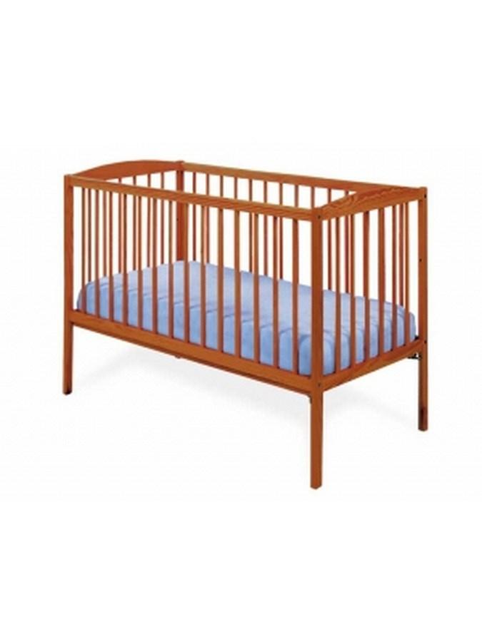 Dřevěná dětská postýlka DREWEX Kuba teak Dětská postýlka dřevěná 120x60cm