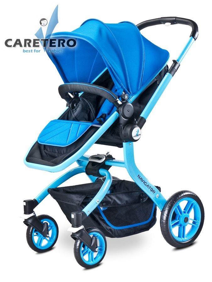 Dětský kočárek 2v1 Caretero Navigator blue Kombinovaný kočárek CARETERO