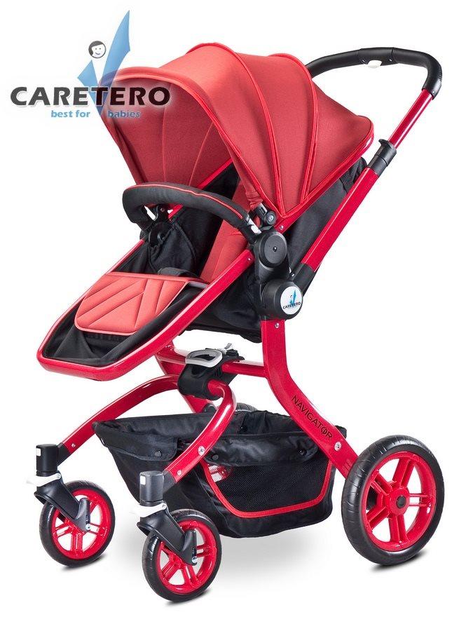 Dětský kočárek 2v1 Caretero Navigator red Kombinovaný kočárek CARETERO